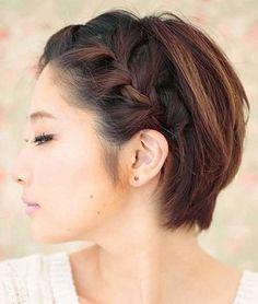 Las trenzas siguen de moda y puedes llevarlas en un pelo corto. Se llevan a