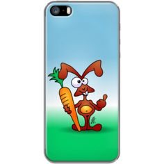 Bunny with a carrot By CardVibes for Apple iPhone 5/5s #TheKase #Cardvibes #Tekenaartje #iPhone #Smartphone #cover #case