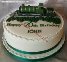 60th Birthday Cake With Train Cake Topper Cake Ideas