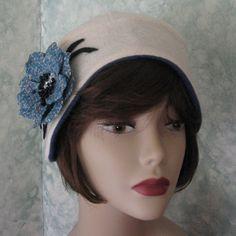 hat patterns sewing | Womens Vintage Hat Pattern Flapper Helmet Easy To Make Email Pattern