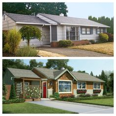 See how Craftsman-inspired upgrades give a 1950s ranch sorely needed curb appeal