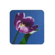 lovely purple tulip custom coasters Fuji_coaster