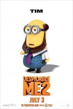 DESPICABLE ME 2 Tim The Minion Poster