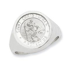 Genuine IceCarats Designer Jewelry Gift Sterling Silver Mens Saint Christopher Ring Size 10.00 IceCarats. $89.00. Genuine IceCarats Designer Jewelry Gift. Sterling Silver. Casted Polished Satin Sterling silver. 30 day money back guarantee. Weight 8.27 grams. Save 69%!