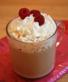 Fresh Raspberry Latte
