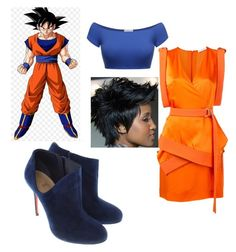 Son goku dragon ball super by kbykiewicz on Polyvore featuring polyvore fashion style Thierry Mugler Christian Louboutin clothing