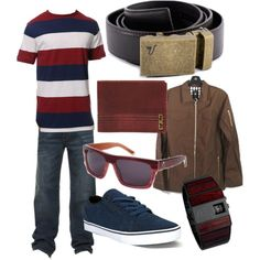 """The Bronze Belt - Red"" by kristinmadsen on Polyvore"