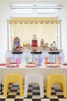 """Calling all Superheroes: Help Save the Milk Bar!""  boy & girl birthday party {Sweet Shoppe 2nd Birthday Party} featured on @Kara's Party Ideas"