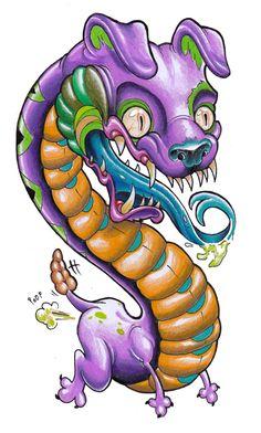 Snake dog by XeviousTheGreat.deviantart.com on @DeviantArt