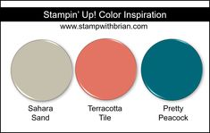 Stampin' Up! Color Inspiration - Sahara Sand, Terracotta Tile, Pretty Peacock