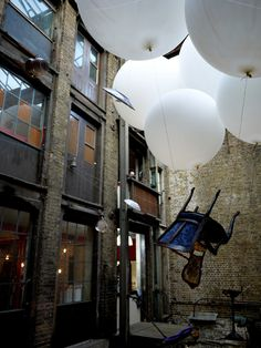 DesignersBlock 2011 venue courtyard at the Farmiloe Building, London Design Festival 2011