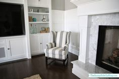 You guys. I'm in love. The chair I ordered for the family room finally arrived! {TO SEE HOW THIS SPACE LOOKS NOW ALONG WITH A LIST OF ALL SOURCES CLICK HERE} It's the Thatcher Upholstered Wingback Chair from Pottery Barn. And it had me at hello. And at good-bye. And at everything in-between. I was …