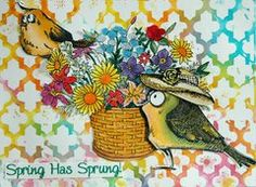 Project Ideas for Sizzix - Tim Holtz - Alterations Collection - Framelits Dies - Bird Crazy