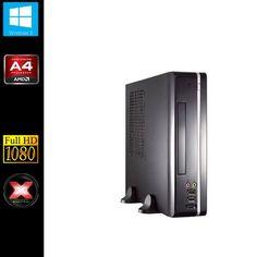 Sedatech Mini-PC Evolution Desktop (AMD A4-5300 2x 3.4GHz Processor, 8GB RAM, 1000GB HDD, 120GB SSD, DVD-RW, USB 3.0, Radeon HD7480D, Full HD 1080P, Wi-Fi, Windows 8)