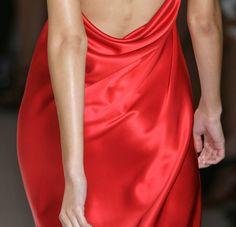 #red #silk #100 #dress #fashion
