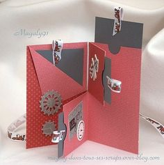 Pocket Book quotFerrari Driverquot Magaly in all his Scraps Mini Albums Scrap, Mini Scrapbook Albums, Scrapbook Cards, Fun Fold Cards, Folded Cards, Envelope Book, Photo Album Scrapbooking, Pocket Cards, Mini Books