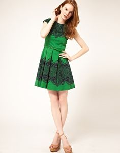 I just bought this dress for St. Patrick's Day party...