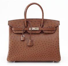 #Hermes pristine (PR Etrusque ostrich 35cm #Birkin bag with Palladium hardware. More here: http://mylusciouslife.com/luscious-loves-hermes/