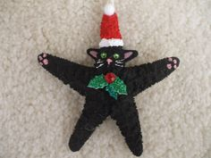 Check out our christmas cats selection for the very best in unique or custom, handmade pieces from our shops. Cat Christmas Ornaments, Fish Ornaments, Christmas Gift Decorations, Christmas Cats, Christmas Angels, Christmas Projects, Holiday Gifts, Christmas Ideas, Seashell Ornaments