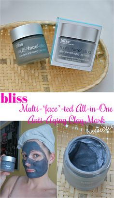 Bliss Multi-'face'-ted All-in-One Anti-Aging Clay Mask review. My experience with bliss anti-ageing clay mask.  #antiageing #bliss #facemask #ilublogi #beautyblogger #skincare