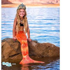 Fin Fun Mermaid Tail in Caribbean Sunset Orange is back- but only for a limited time! Get this tail 50% off until Halloween! Get his screamin' deal today! http://www.finfunmermaid.com/clearance-specials/caribbean-sunset-mermaid-tail.html