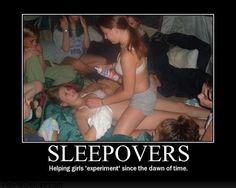 Teen lesbian sleepover