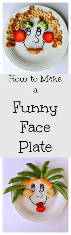 How to make a permanent funny face snack plate! A great way to get little ones creative at the table, and a fun way to sneak in vegetables. Makes a great homemade gift for kids too!