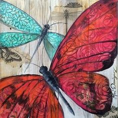 Dominguez Butterflies & hearts symbols the soul and change and love. this is a wonderful collage. Butterfly Painting, Butterfly Art, Flower Art, Butterflies, Pretty Pictures, Art Pictures, Sketch Manga, Decoupage Printables, Art Journal Inspiration