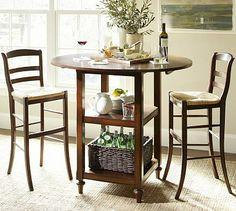 Shayne Drop-Leaf Bar-Height Table #potterybarn