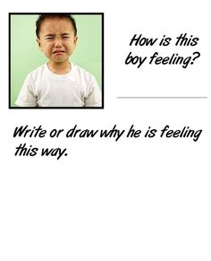 Worksheets on identifying facial expressions and feelings  www.elementaryschoolcounseling.org