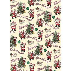 Make it a retro Christmas with these unique Christmas gift ideas for mom, dad, grandparents or anyone on your list. Large selection of inexpensive stocking stuffer ideas for kids and grownups alike. Vintage Christmas Wrapping Paper, Christmas Paper Crafts, Noel Christmas, Christmas Gift Wrapping, Retro Christmas, Vintage Holiday, Christmas Ideas, Christmas Poster, Miniature Christmas