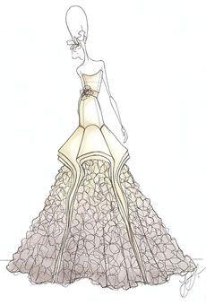 Drew Barrymore wedding dress sketches! view them all here: http://p.ost.im/p/eWfQuq