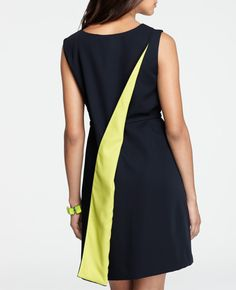 Ann Taylor Satin Cascade Sheath Dress