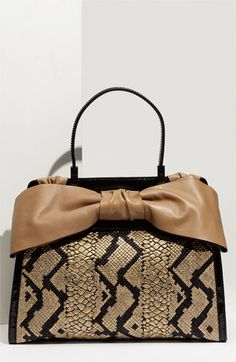 Valentino 'Aphrodite' Python Print Straw Satchel | every time one opens it it's like a gift