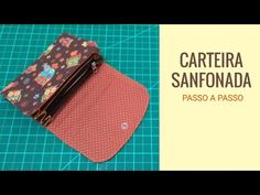 Fabric Wallet, Louis Vuitton Damier, Sewing, Youtube, Pattern, Bags, Handmade Fabric Purses, Tejidos, Step By Step