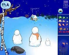 Build Your Own Snowman: Virtual Snowman Building Sites - - Pinned by @PediaStaff – Please visit http://ht.ly/63sNt for all (hundreds of) our pediatric therapy pins