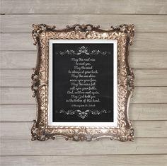 Irish Blessing 8x10 - Prayers, Farewell Gift, Wall Art, Home Decor, Instant Download Digital by FebruaryLane, $3.95