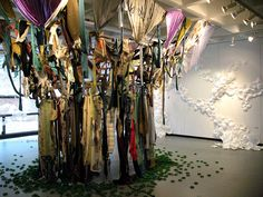 Installation by high school juniors at Art All-State, Worcester Art Museum, 2012.