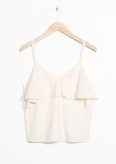 & Other Stories image 2 of Frill Off-Shoulder Top in Off white