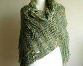 Gorgeous hairpin lace shawl.