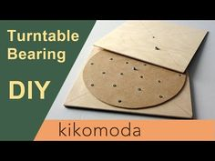 DIY How to make a giant Lazy Susan - Turntable Bearing Easy Diy Crafts, Diy Craft Projects, Crafts To Make, Craft Storage Cabinets, Kitchen Organization, Organization Ideas, Diy Turntable, Diy Lazy Susan, Diy Cardboard