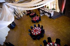 red black white wedding decorations - Google Search