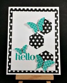 Retiring List - Patterns Stack, Back to Black and the Hexagon Punch - Barbstamps!! Barb Mullikin Stampin' Up! Demonstrator