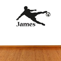 Boys Personalised Football Name Wall Sticker Wall Stickers Silver, Boys Wall Stickers, Wall Stickers Quotes, Childrens Wall Stickers, Wall Decals, Football Names, Football Wall, Personalised Football, Personalized Wall Art
