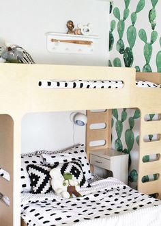 obsessed with these modern bunk beds for our boys' shared room | thelovedesignedlife.com