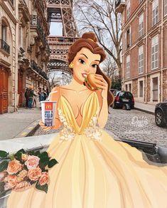 Princesses Disney Belle, Disney Princess Fashion, Disney Princess Drawings, Disney Princess Art, Disney Princess Pictures, Disney Drawings, Princess Fotos, Princesas Disney Dark, Princesse Disney Swag