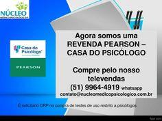 Testes psicológicos!!! Psicólogo faça seu pedido conosco.  www.nucleomedicopsicologico.com.br