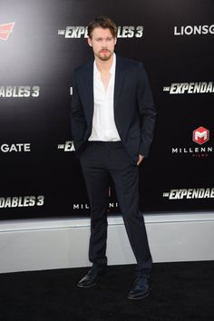Pin for Later: This Week's Can't-Miss Celebrity Photos  Glee star Chord Overstreet looked dapper at the premiere of The Expendables 3 in LA.