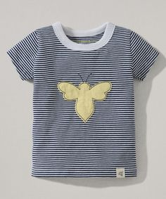 Another great find on #zulily! Navy Mini Stripe Bee Organic Tee - Toddler by Burt's Bees Baby #zulilyfinds