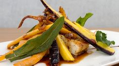 Heirloom Carrots With Rosemary Balsamic Demi Glace Recipe Vegetable Dishes Tofu Food Recipes